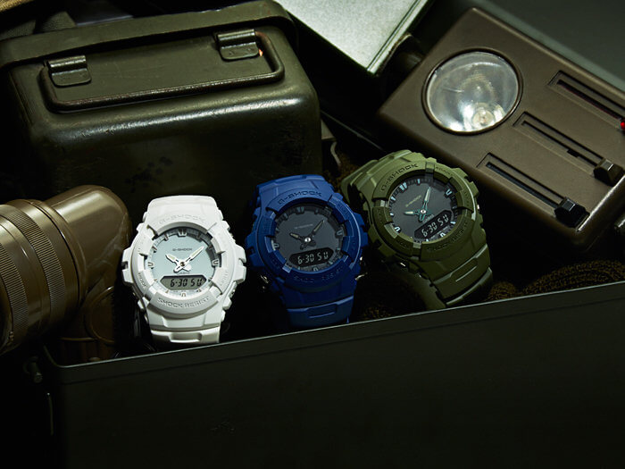 G-Shock G-100CU White Blue and Green
