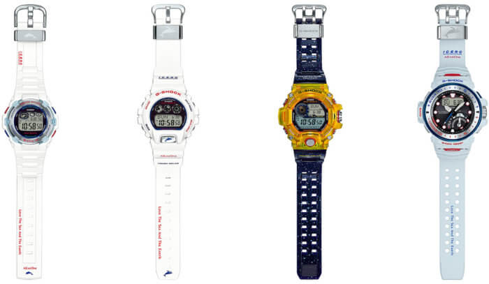 Baby-G BGR-3007K-7JR, G-Shock GW-6901K-7JR, G-Shock GW-9403KJ-9JR Rangeman, G-Shock GWN-Q1000K-7AJR Gulfmaster