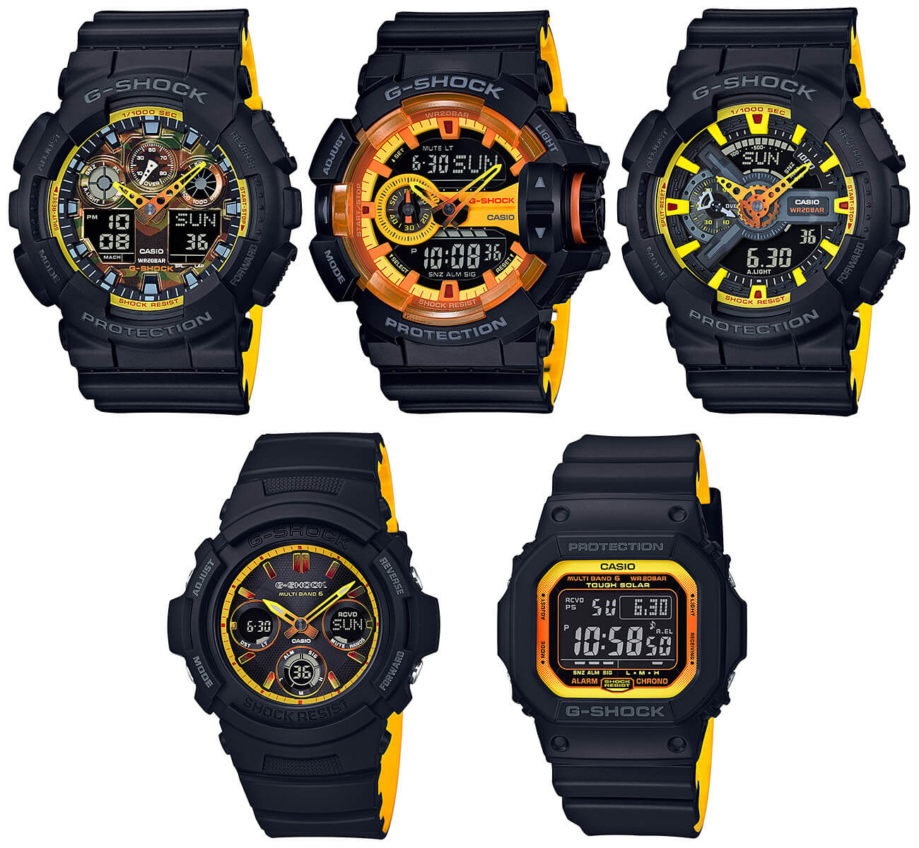 G Shock Black And Yellow Accent Sport Series G Central G