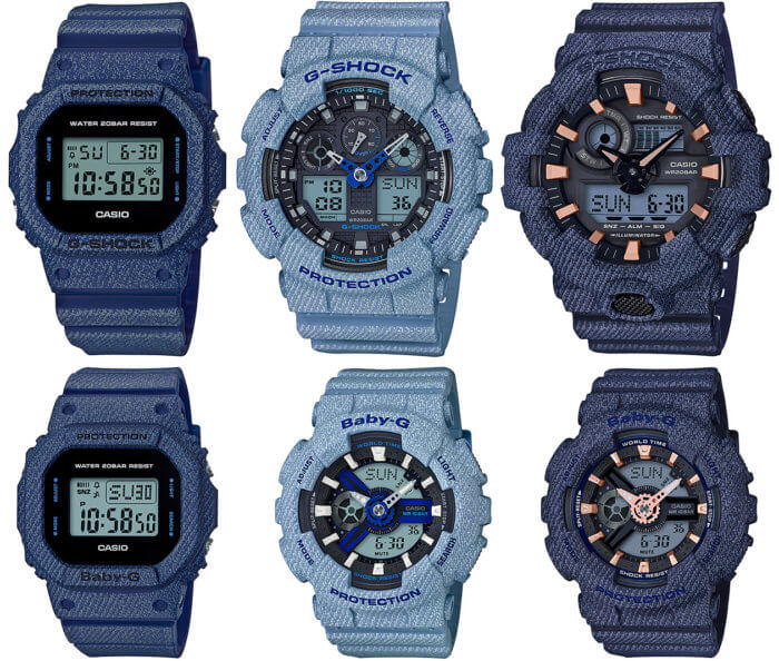G-Shock Denim DW-5600DE-2JF GA-100DE-2AJF  GA-700DE-2AJF Baby-G BGD-560DE-2JF BA-110DE-2A1JF  BA-110DE-2A2JF