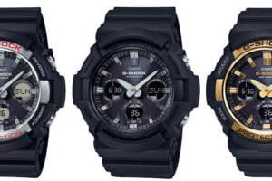 G-Shock GAS-100 & GAW-100: Large Tough Solar Analog-Digital