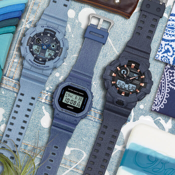 Casio G-Shock and Baby-G DE Denim Series