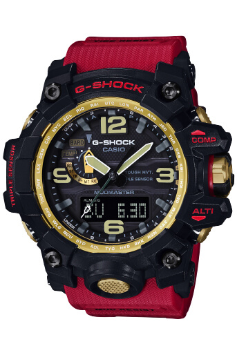 G-Shock GWG-1000GB-4A Mudmaster Red Black and Gold