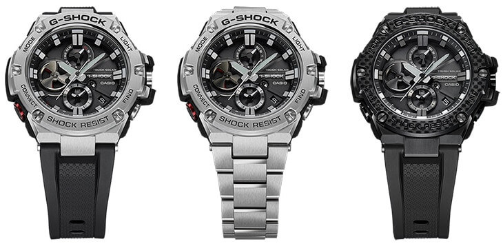G Shock G Steel Gst B100 With Bluetooth And Tough Solar G Central