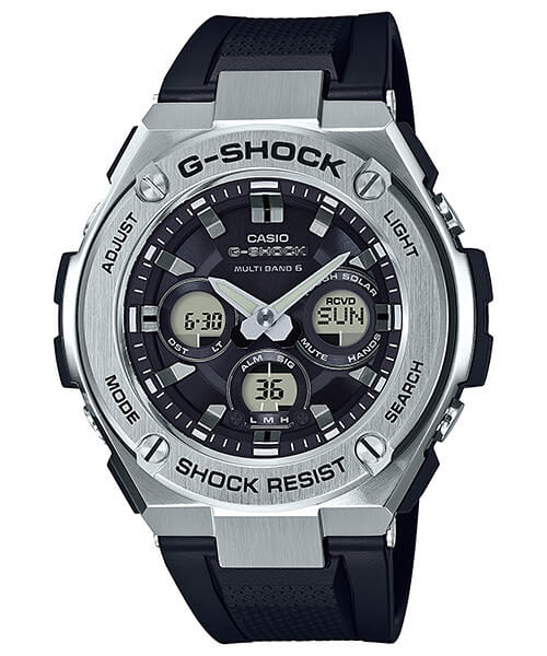 G-Shock G-STEEL GST-W310-1A Silver and Black Mid-Size