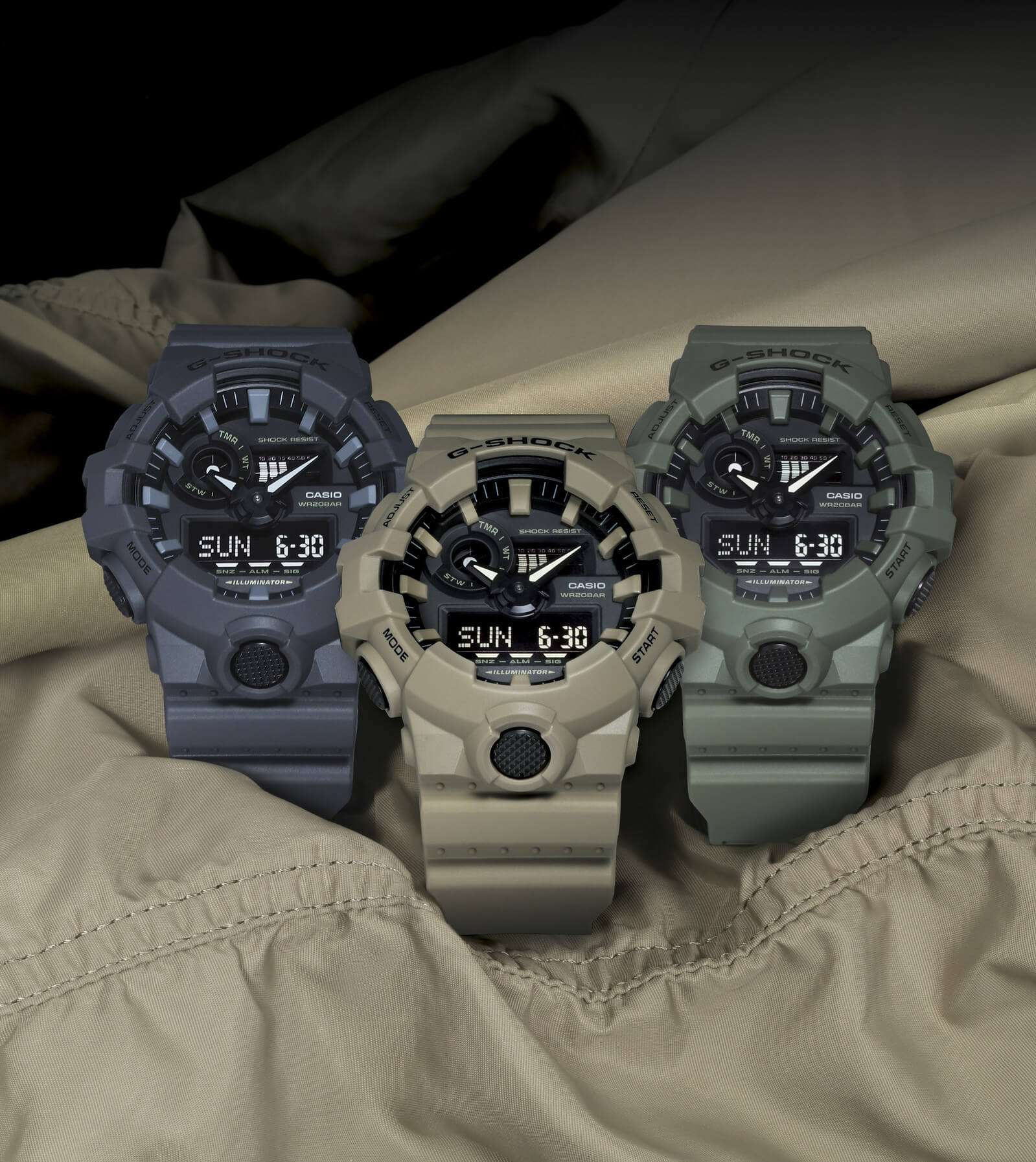 99ff5274fde G-Shock GA-700UC Utility Color Collection – G-Central G-Shock Watch ...