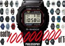 Casio G-Shock 100 Million Units Shipped