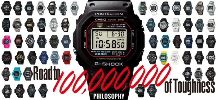Casio G-Shock 100 Million Units Shipped