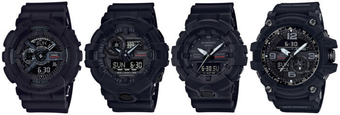 G-Shock Big Bang Black 35th Anniversary GA-135A-1A G-Shock GA-735A-1A GA-835A-1A GG-1035A-1A