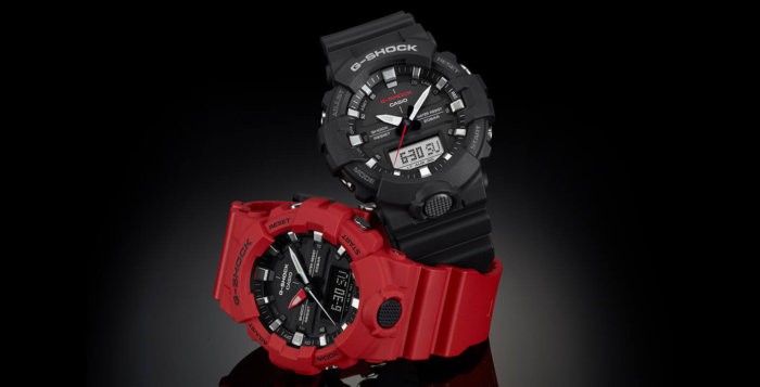 G-Shock GA-800 Black and Red