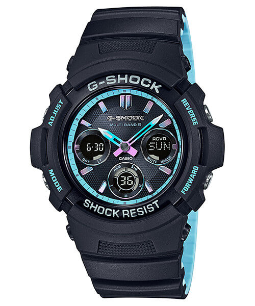 G-Shock AWG-M100SPC-1A Neon Blue