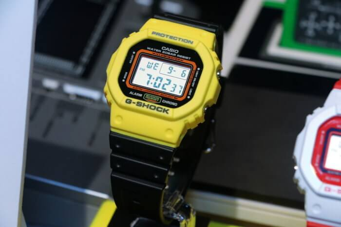 G-Shock DW-5600TB-1 Black and Yellow