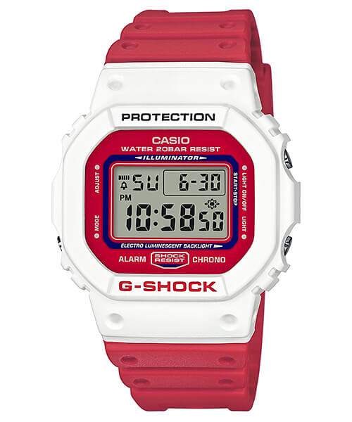 G-Shock DW-5600TB-4A White and Red