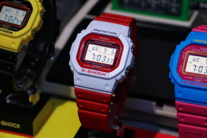 G-Shock DW-5600TB-4A Red and White