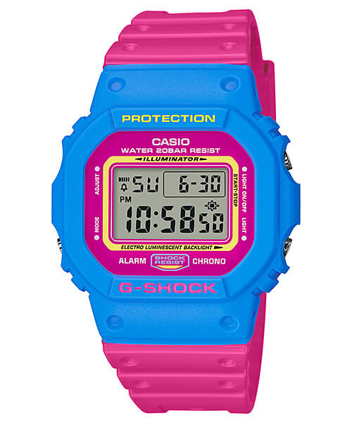 G-Shock DW-5600TB-4B Blue and Pink