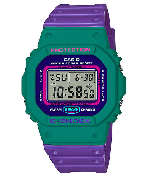 G-Shock DW-5600TB-6 Green and Purple