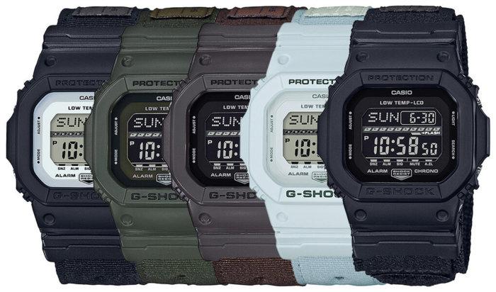 G-Shock G-LIDE Cloth Band GLS-5600CL-1JF GLS-5600CL-3JF GLS-5600CL-5JF GLS-5600CL-7JF GLS-5600WCL-1JF