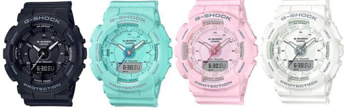 G-Shock GMA-S130 Step Tracker GMA-S130-1A GMA-S130-2A GMA-S130-4A GMA-S130-7A