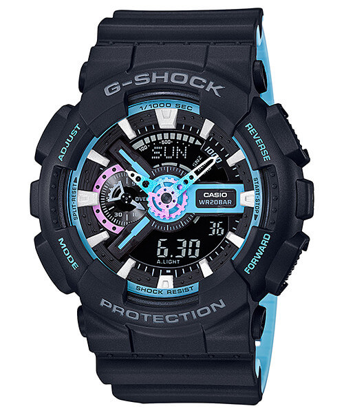 G-Shock GA-110PC-1A Neon Blue