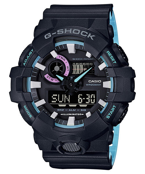 G-Shock GA-700PC-1A Neon Blue