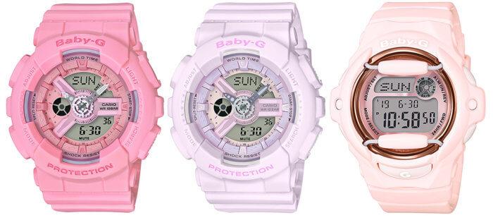 Casio Baby-G Pink Bouquet Collection BA-110-4A1 BA-110-4A2 BG-169G-4B