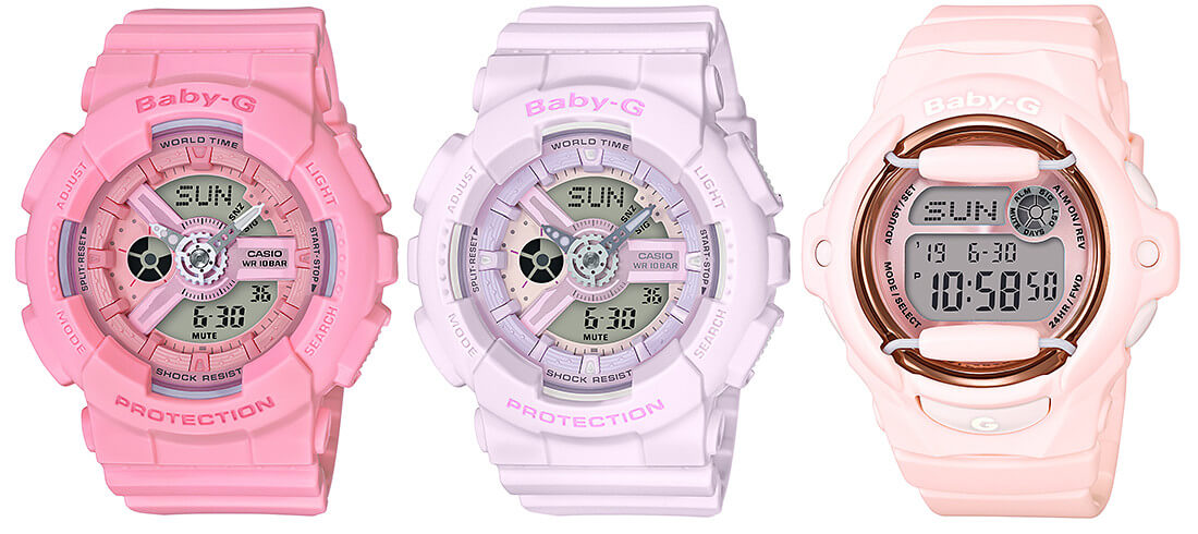 f73191b45f3526 Baby-G Pink Bouquet Collection – G-Central G-Shock Watch Fan Blog