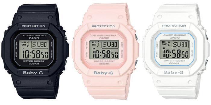 Casio Baby-G BGD-560-1 BGD-560-4 BGD-560-7 Black Pink White