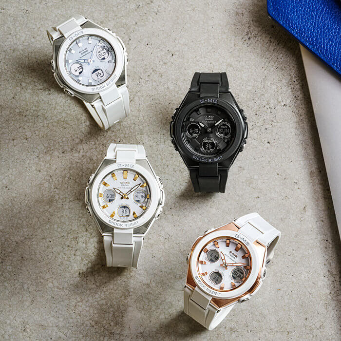 Casio Baby-G G-MS MSG-W100 and MSG-W100G