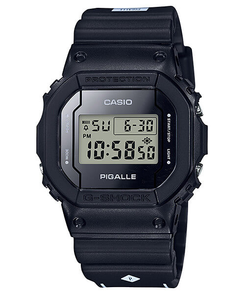 Pigalle x G-Shock DW-5600PGB-1 Black Watch