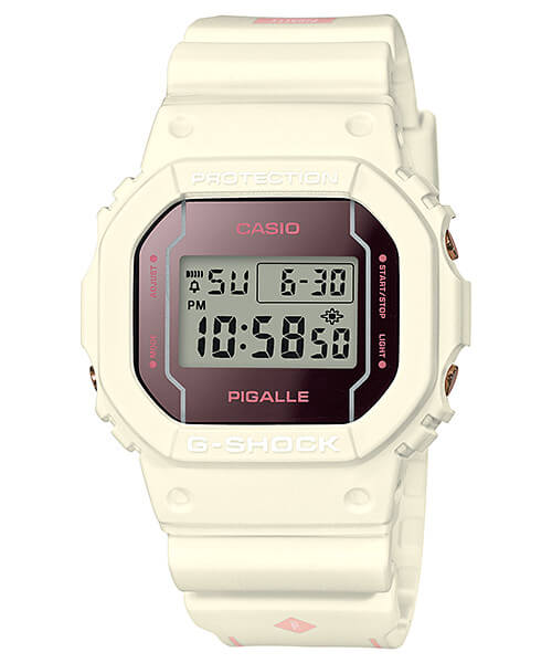 Pigalle x G-Shock DW-5600PGW-7 White Watch