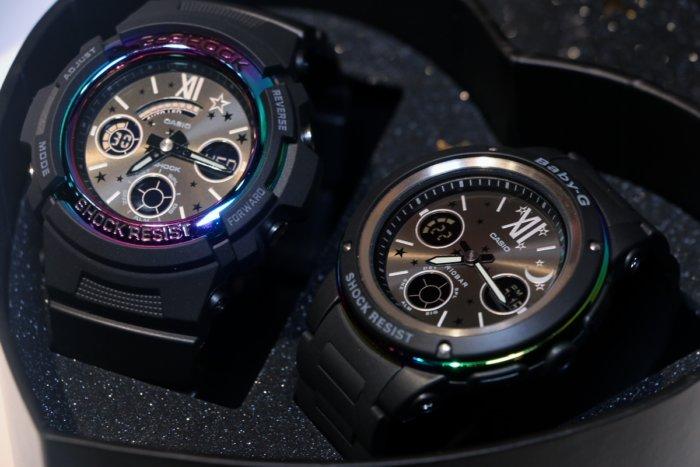 G Presents Lover's Collection LOV-17B G-Shock and Baby-G Watches
