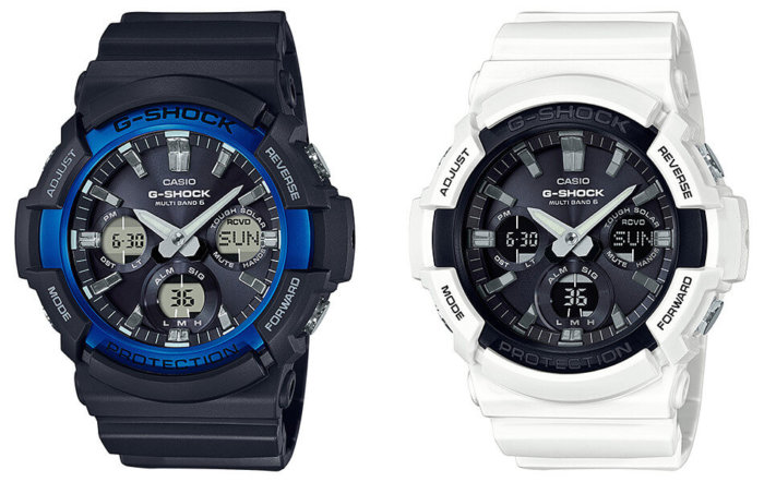 G-Shock GAW-100B-1A2JF GAW-100B-7AJF Black/Blue White/Black
