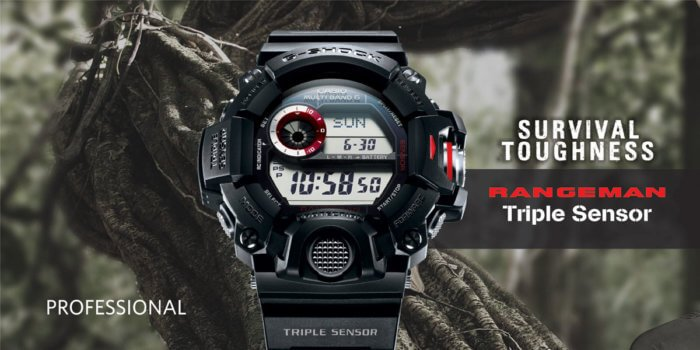 Toughest G-Shock GW-9400-1 Rangeman Survival Watch