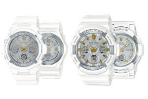 Precious Heart Selection White-Gold G-Shock & Baby-G Pairs
