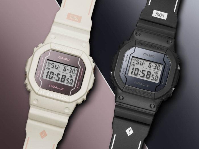Pigalle x G-Shock DW5600PGW-1 DW5600PGW-7 Collaboration Watches