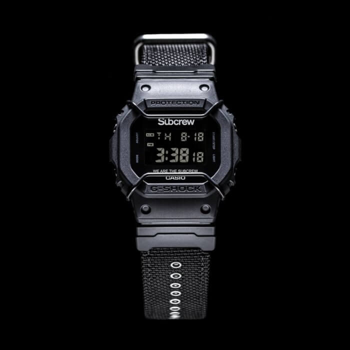 Subcrew x G-Shock DW-5600SUBCREW-1 2017 Back To Black Collaboration Watch