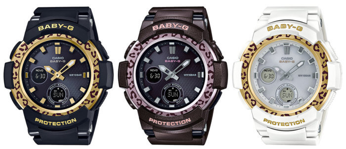 BABY-G BGA-2100LP Leopard Pattern Tough Solar Multi-Band 6 BGA-2100LP-1AJF BGA-2100LP-5AJF BGA-2100LP-7AJF
