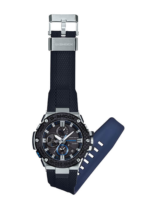 GST-B100XA-1A Dual Layer Black and Blue Band