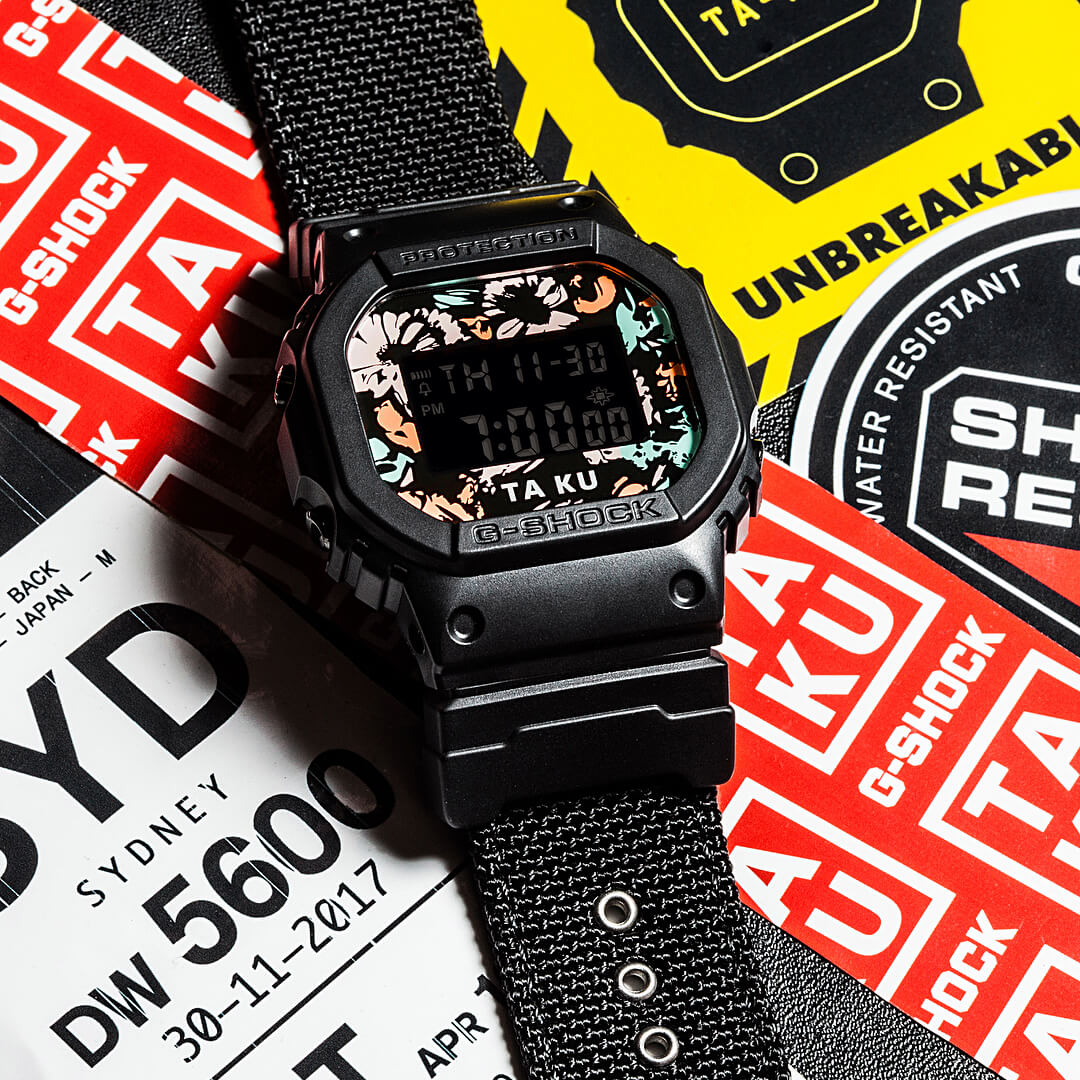 af806494f0b04 Ta-Ku x G-Shock DW5600TA-KU-1D Collaboration Watch – G-Central G ...