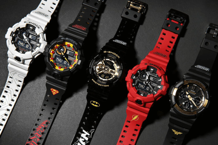 Justice League x G-Shock Watches Batman Superman Flash Wonder Woman