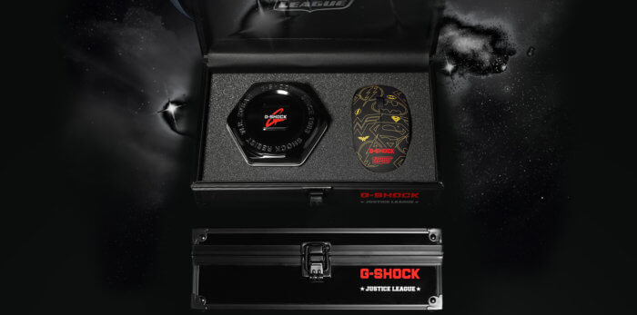 Justice League G-Shock Box and Computer Mouse