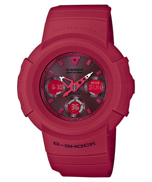 G-Shock AWG-M535C-4A 35th Anniversary Red Out Edition