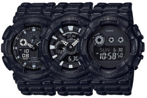 G-Shock Black Leather Texture Series Thumbnail