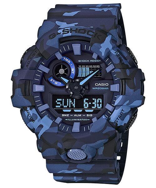 G-Shock GA-700CM-2A Blue Camouflage