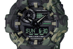 G-Shock GA-700CM-3A Green Camouflage