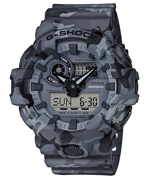 G-Shock GA-700CM-8A Gray Camouflage