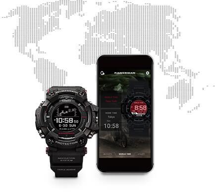 G-Shock Rangeman GPR-B1000 Bluetooth Smartphone Link
