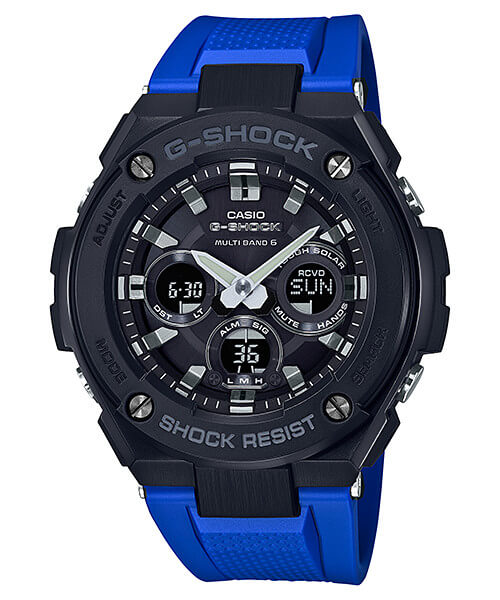 G-Shock G-STEEL GST-W300G-2A1 Black and Blue