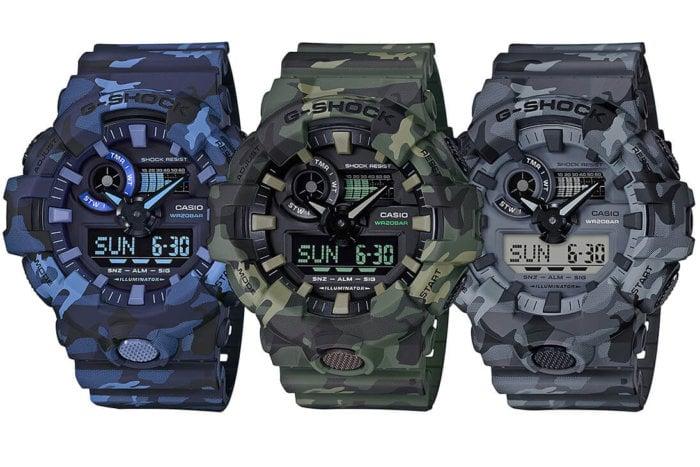 G-Shock GA-700CM Camouflage Series GA-700CM-2A GA-700CM-3A GA-700CM-8A