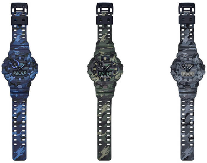 G-Shock GA-700CM Camouflage Series Bands